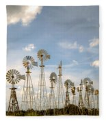 Early Model Wind Farm Fleece Blanket