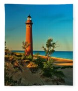 Early Morning At Little Sable Fleece Blanket