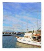 Early Morning At Maalaea Marina Fleece Blanket