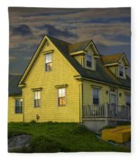 Early Morning At Peggys Cove In Nova Scotia Canada Fleece Blanket
