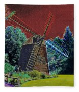 Early Morning At The Mill Fleece Blanket