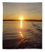 Early Morning Fishing Fleece Blanket