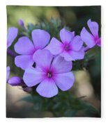 Early Morning Floral Beauty  Fleece Blanket