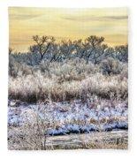 Early Morning Frost Fleece Blanket