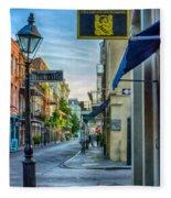 Early Morning In French Quarter Nola Fleece Blanket