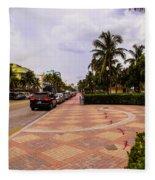 Early Morning In Miami Beach Fleece Blanket