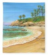 Early Morning Laguna Fleece Blanket