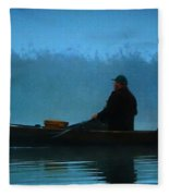 Early Morning Lake Joy  Fleece Blanket