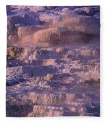 Early Morning Light On Minerva Springs Yellowstone National Park Fleece Blanket