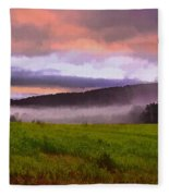 Early Morning Mist Fleece Blanket