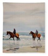 Early Morning Paddle Fleece Blanket