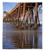 Early Morning Pier Fleece Blanket
