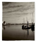 Early Morning River Suir, Waterford Fleece Blanket