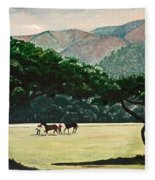 Early Morning Savannah Fleece Blanket