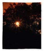 Early Morning Sun Burst Fleece Blanket