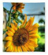 Early Morning Sunflower Fleece Blanket