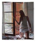 Early Morning Villa Mallorca Fleece Blanket