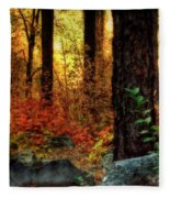 Early Morning Walk Fleece Blanket