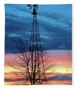 Early Prairie Light Fleece Blanket