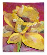 Early Spring IIi  Daffodil Series Fleece Blanket