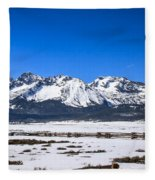 Early Spring In The Sawtooth Fleece Blanket