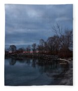 Early Still And Transparent - On The Shores Of Lake Ontario In Toronto Fleece Blanket