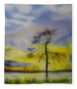 Early Summer Morning Fleece Blanket