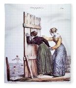 Early Victorian Peeping Women Fleece Blanket