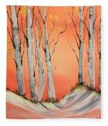 Early Winter Aspen Fleece Blanket