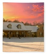 Early Winter Morning Fleece Blanket