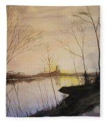 Early Winter Riverside Fleece Blanket