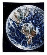 Earth Beauty Original Acrylic Painting Fleece Blanket