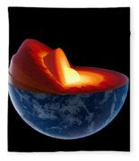 Earth Core Structure - Isolated Fleece Blanket