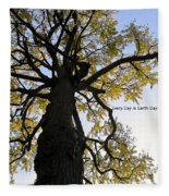 Earth Day Special - Ancient Tree Fleece Blanket
