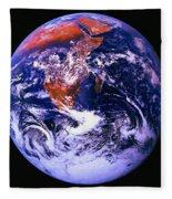 Earth From Space Centered On East Africa Fleece Blanket