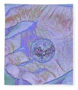 Earth In Hand Fleece Blanket