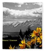 Earth Laughs In Flowers Fleece Blanket