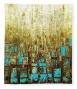 Abstract Geometric Mid Century Modern Art Fleece Blanket