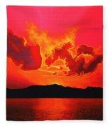 Earth Sunset Fleece Blanket