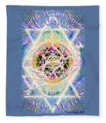Earth Water Spirit Madonna Peace Matrix Fleece Blanket