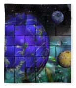 Earthday 2014- The View From On High Fleece Blanket