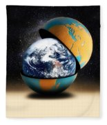 Earths Protective Cover Fleece Blanket