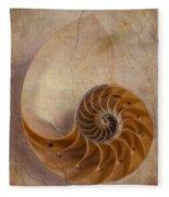 Earthy Nautilus Shell  Fleece Blanket