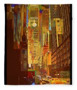 East 45th Street - New York City Fleece Blanket