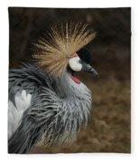 East African Crowned Crane Painterly Fleece Blanket