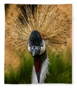 East African Crowned Crane Square Format Fleece Blanket