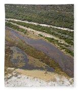 East Coast Aerial Near Jekyll Island Fleece Blanket