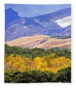 East Glacier Fall Fleece Blanket