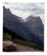 East Glacier National Park Fleece Blanket