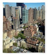 East Midtown Aerial Fleece Blanket